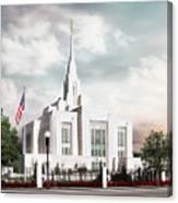 Ogden LDS Temple Canvas Print