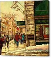 Ogilvys Department Store Downtown Montreal Canvas Print