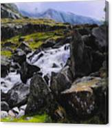 Ogwen Rock Waterfall Canvas Print