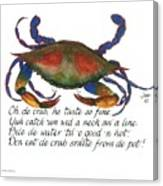 Oh De Crab Canvas Print