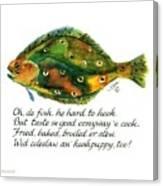 Oh De Fish Canvas Print