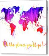 Oh The Places Canvas Print