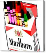 Oh These Arnt Cigarettes Just Crayons Canvas Print