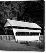 Ohio Covered Bridge In Black And White Canvas Print