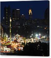 D3l-464 Ohio State Fair With Columbus Skyline Canvas Print