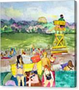 Ohio Swimmers Canvas Print
