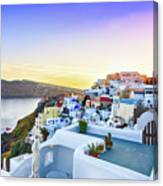 Oia, Santorini - Greece Canvas Print