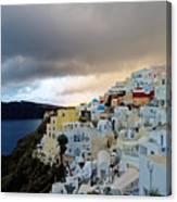 Oia Santorini Sunset Canvas Print