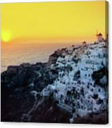 Oia Town , Santorini Island, Greece Canvas Print