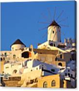 Oia Windmill Canvas Print