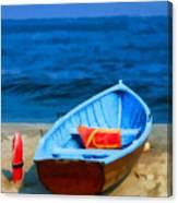 Oil - Rescue Boat Canvas Print