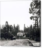 Oil Field Residential Los Angeles C. 1901 Canvas Print