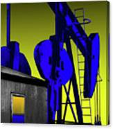 Oil Industry Well Pump Canvas Print