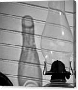 Oil Lamp B And W Canvas Print