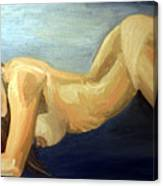 Oil Model Painting Canvas Print