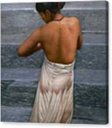Oil Painting Art-bather On Linen Canvas Print