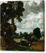 Oil Sketch Of Stoke-by-nayland Canvas Print