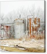 Oil Tank Farm Canvas Print