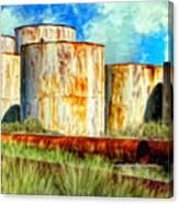 Oil Tanks Canvas Print