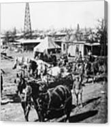 Oil: Texas, 1920 Canvas Print