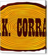 O.k. Corral Log Sign Canvas Print