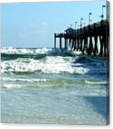 Okaloosa Pier Breaking Canvas Print