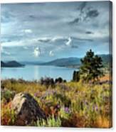 Okanagan Lake In The Spring Canvas Print