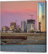 Okc Sunset Canvas Print