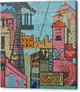 Oklahoma City Bricktown Mosaic Wall Canvas Print