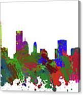 Oklahoma City Skyline Painted Canvas Print