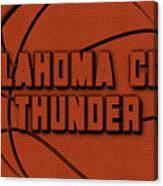 Oklahoma City Thunder Leather Art Canvas Print