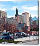 Oklahoma City Wide Angle Canvas Print