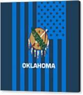 Oklahoma State Flag Graphic Usa Styling Canvas Print