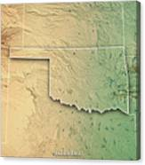 Oklahoma State Usa 3d Render Topographic Map Border Poster by Frank ...