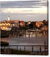 Okracoke Island Nc Sunrise Canvas Print