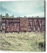 Old Abandoned Box Cars Central Vermont Canvas Print