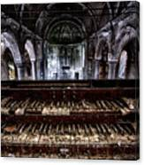 Old Abandoned Church Organ In Decay Canvas Print
