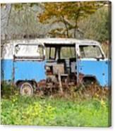 Old Abandoned Hippie Van Canvas Print
