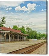 Old Abandoned Train Depot Canvas Print