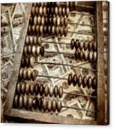 Old Accounting Wooden Abacus Canvas Print