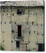 Old Adobe Building In Otavalo Canvas Print