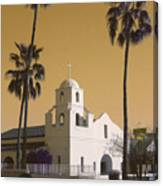 Old Adobe Mission Poster Canvas Print