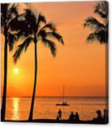 Old Airport Beach Sunset Canvas Print