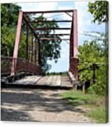 Old Alton Bridge In Denton County Canvas Print