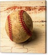 Old American Baseball Canvas Print