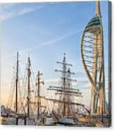 Old And New At Gunwharf Quays Canvas Print