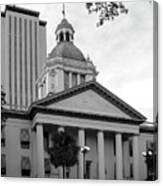 Old And New Florida State Capitol Buildings Canvas Print
