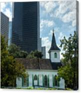 Old And New Houston Canvas Print