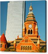 Old And New In Dallas Canvas Print