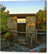 Old Army Lookout In Sunset Hour Canvas Print